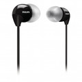 PHILIPS In-Ear Compact Earphones with Soft Caps Black - SHE3590BK-10