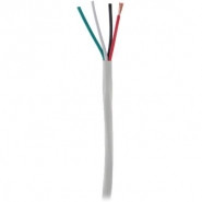 STRUCTURED CABLES 4C14 AWG 105 Strand Oxygen Free Copper Speaker Cable- 500 ft Box - White - 14/4OFC-WT