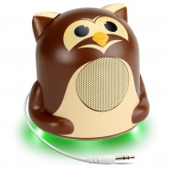 GOGROOVE Groove Pal Jr. Owl Portable Media Speaker with Glowing LED Base - GG-PAL-JROWL