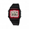 CASIO Classic Square Digital 50M Water Resistant Black Resin Band - W-215H-1A2V