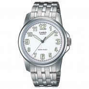 CASIO 3-Hand Analog Water Resistant Watch with Stainless Steel Band - MTP-1216A-7B