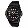 CASIO Classic 100-Meter Water Resistant Diver-look Watch with DayDate Display - MRW-200H-1E