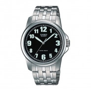 CASIO 3-Hand Analog Water Resistant Watch with Stainless Steel Band - MTP-1216A-1B