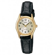 CASIO 3-Hand Analog Quartz Ladies Watch Genuine Leather Band with White Face - LTP1094Q-7B2