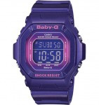 CASIO BG5600 Baby-G 100M Water Resistant , World Time, 5 Daily Alarms (1 with snooze) - BG5600SA-6