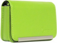 IMPECCA DCS86 Compact Leather Digital Camera Case - Lime - DCS86L