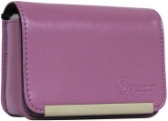 IMPECCA DCS86 Compact Leather Digital Camera Case - Purple - DCS86PU