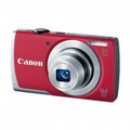 CANON PowerShot A2500 16.0 Megapixel 5x Wide-Angle Optical Zoom 2.7-IN LCD 720p HD Video, Red - 8255B001