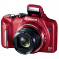 CANON PowerShot SX170 IS 16 Megapixel Digital Camera with 16x Zoom and 3.0-Inch LCD - Red - 8676B001