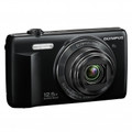 OLYMPUS Stylus VR-370 16MP 12.5x Wide Zoom 3.0IN HR LCD Digital Camera - Black - V105110BU000