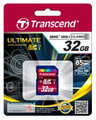 TRANSCEND SD High Capacity (SDHC) 32GB Class 10 Ultimate 566x Great for FullHD Recording - TS32GSDHC10U1