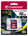 TRANSCEND SD High Capacity (SDHC) 16GB Class 10 Ultimate 566x Great for FullHD Recording - TS16GSDHC10U1