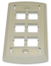 Suttle 6 Outlet Face Plate - Ivory - SE-STAR500S6-52