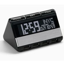 World Travel Clock with USB Hub - OR-RAS200