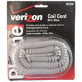 25' Silver Handset Cords - 25 Pack - JAS-TL96195PK