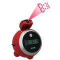 Projection Clock with AM/FM Radio in Red - JEN-JCR-222-R