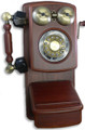 Country Wood Phone MAHOGANY    - GOLD-GEE-8705D