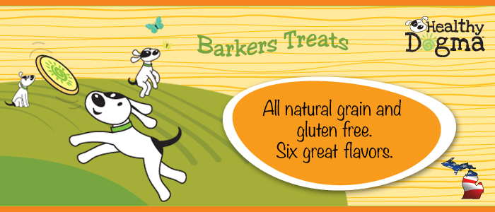 Healthy Dogma has 6 varieties of gluten free dog treats
