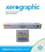 Canon C2020 C2025 C2030 Genuine Yellow Toner Cartridge C-EXV 34 3785B002[AA]