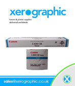 Canon C2020 C2025 C2030 Genuine Cyan Toner Cartridge C-EXV 34 3783B002[AA]