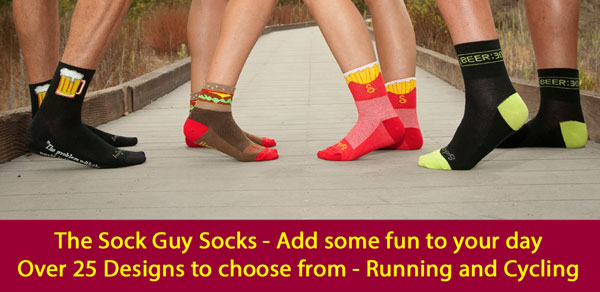 The SockGuy - Over 25 Fun Socks for Running and Cycling