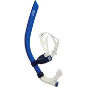 Zoggs Swim Training Snorkel - Soft Medical Grade Silicone mouth piece and One-Way purge valve for clear and easy breathing