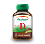 JAMIESON CHEWABLE VITAMIN D 1000 IU CHOCOLATE 100 TABS