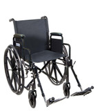 "Drive Medical 18"" Silver Sport 1 Single Axle Wheelchair"