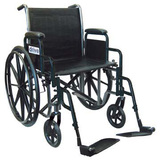 "Drive 16"" Silver Sport 2  Detachable Desk Arm Swing-Away Footrests Wheelchair"