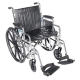 "CHROME SPORT ADJUSTABLE WHEELCHAIR 18"" DRIVE MEDICAL"