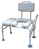 COMBINATION PADDED TRANSFER BENCH AND COMMODE DRIVE MEDICAL