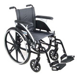 "VIPER 20"" LIGHTWEIGHT WHEELCHAIR FLIP BACK DRIVE MEDICAL"