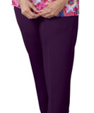 WOMENS ADAPTIVE WHEELCHAIR PANTS WITH OPEN BACK PURPLE SM