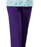 ARTHRITIS ADAPTIVE PANTS WITH VELCRO BRAND FASTENERS PURPLE SM