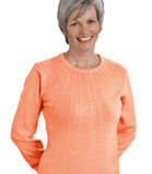 WOMEN'S ADAPTIVE TOP LONG SLEEVE CORAL SM