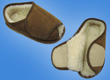 SHEEPSKIN OPEN TOE MENS SLIPPERS