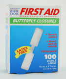 BUTTERFLY CLOSURE ADHESIVE BANDAGES