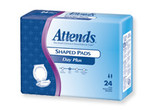 SAMPLE OF ATTENDS INCONTINENCE SHAPED PADS