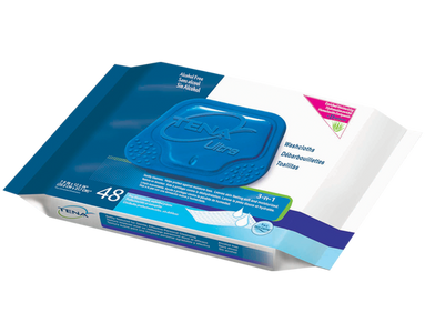 SAMPLE OF TENA ULTRA WASH CLOTHS