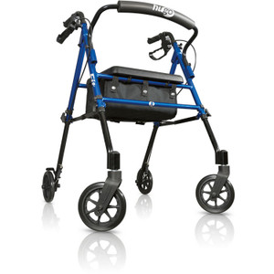 "Hugo Fit 6"" Rolling Walker Rollator With Seat - 1"