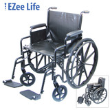 "EZEE LIFE 20"" WHEELCHAIR WITH REMOVEABLE ARMS"