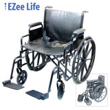 "EZEE LIFE 22"" WHEELCHAIR WITH REMOVEABLE ARMS"