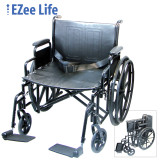 "EZEE LIFE 24"" WHEELCHAIR WITH REMOVEABLE ARMS"