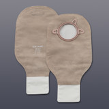 "HOLLISTER 18142 NEW IMAGE CLAMP CLOSURE DRAINABLE POUCH BEIGE W/ FILTER 12""L 1 3"