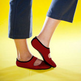 NUFOOT WOMEN'S MARY JANES RED
