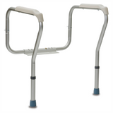 DUAL HEIGHT ADJUSTABLE TOILET SAFETY FRAME
