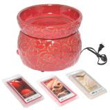 CRIMSON ELECTRIC SIMMERING WAX WARMER COMBO