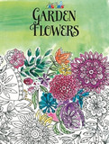 ADULT COLOURING BOOK GARDEN FLOWERS