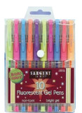FLOURESCENT GEL PENS 10 PACK
