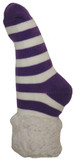 PUDUS SLIPPER SOCKS PURPLE STRIPES